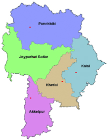 Joypurhat  map